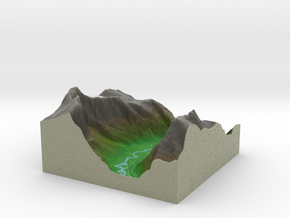 Terrafab generated model Tue Dec 03 2013 15:52:41  in Full Color Sandstone