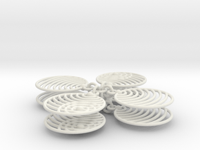 Echo Earring in White Natural Versatile Plastic