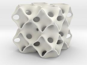 Schoen's OCTO surface 2x2x2 in White Natural Versatile Plastic