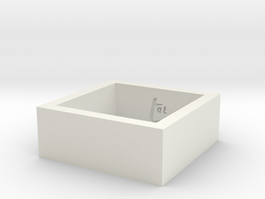 SquareRing_17mmx8mm in White Natural Versatile Plastic