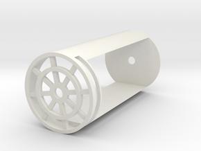 """Battery/Speaker Chassis for 1.25"""" sinktubes in White Natural Versatile Plastic"""
