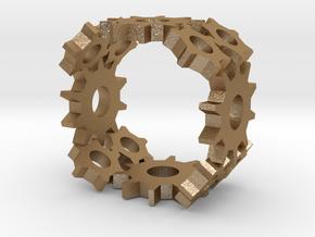 Steampunk Gear Ring in Stainless Steel