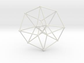 Toroidal Hypercube 50mm 1mm Time Traveller in White Natural Versatile Plastic