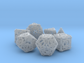 Steampunk Dice Set in Smooth Fine Detail Plastic