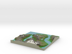 Terrafab generated model Thu Dec 12 2013 21:50:47  in Full Color Sandstone