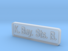 K. Bay. Sts. B. Locomotive Plate in Smooth Fine Detail Plastic