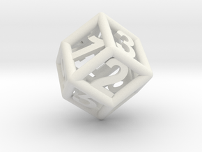 D6 x 2 in White Strong & Flexible