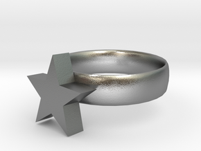 star ring in Natural Silver