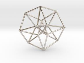 Toroidal Hypercube 35mm 1mm Time Traveller in Platinum