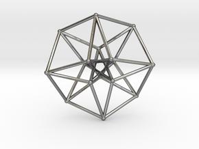 Toroidal Hypercube 35mm 1mm Time Traveller in Polished Silver