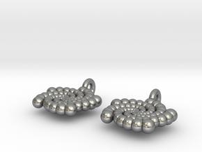 Phi Earing V2 in Natural Silver