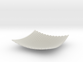 Large Honeycomb Fruit Bowl Key tidy in White Natural Versatile Plastic