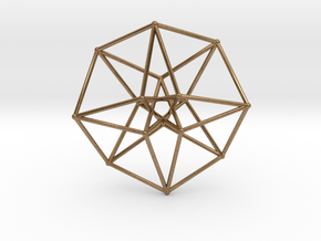 Sacred Geometry: Toroidal Hypercube 40mmx1mm in Natural Brass