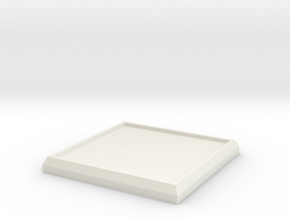 Square Model Base 30mm in White Strong & Flexible