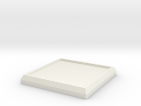Square Model Base 1 Inch in White Natural Versatile Plastic