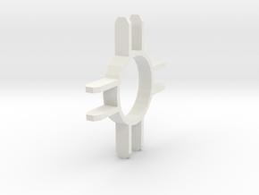 Prongs Attachment in White Natural Versatile Plastic
