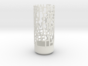 Light Poem Deep in White Natural Versatile Plastic