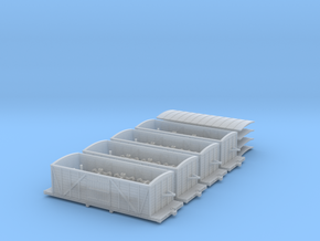 R33 x4 N scale St. Petersburg Moscow boxcar 1847 in Smooth Fine Detail Plastic