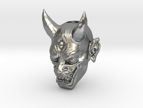 Japanese Hannya Demon Bead - Coming Soon in Natural Silver