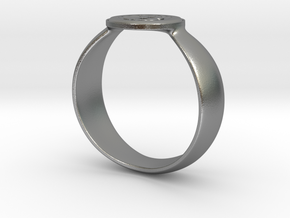 Bitcoin Ring 2nd Edition in Raw Silver