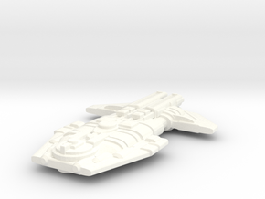 Malkorian Heavy Cruiser in White Processed Versatile Plastic