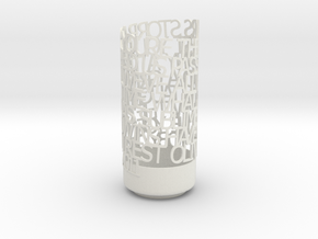 Light Poem - Storrar White in White Natural Versatile Plastic