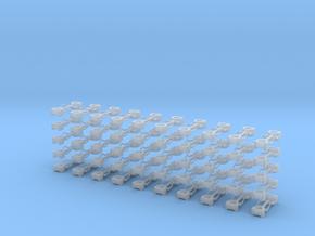 Kurzkupplung starr 2-fach Anschluß in Smooth Fine Detail Plastic