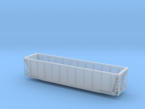 Z scale Coalveyor (tm) bathtub gondola in Frosted Ultra Detail
