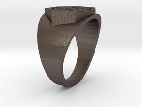 Deathless Ring in Polished Bronzed Silver Steel