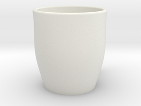Open Mug in White Natural Versatile Plastic