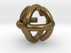 Triple Torus in Raw Bronze