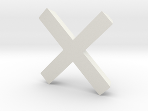 Cross - 2 in White Natural Versatile Plastic