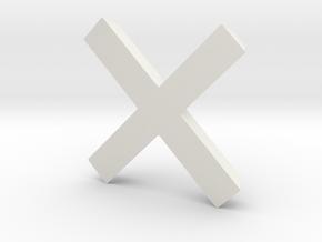Cross - 2 in White Strong & Flexible