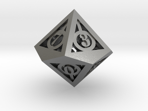 Deathly Hallows d10 in Natural Silver
