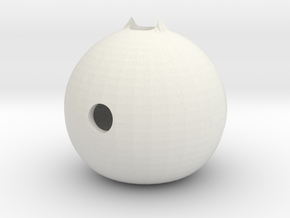 d1: Weighted Spheroid in White Natural Versatile Plastic