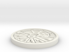 City of Ember Coin 1mm deep engraving in White Natural Versatile Plastic