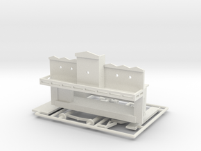 "Spiel - game ""Steamboat""-Derby 1:220 (z scale) in White Natural Versatile Plastic"