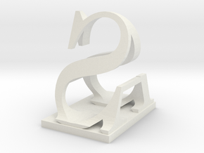 Two way letter / initial A&S in White Natural Versatile Plastic