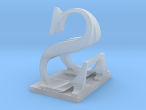 Two way letter / initial A&S in Smooth Fine Detail Plastic