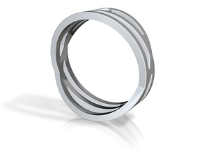 Bague Trois cercles in Polished Silver