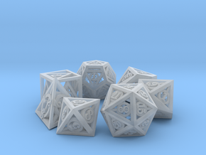 Deathly Hallows Dice Set in Smooth Fine Detail Plastic