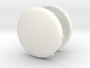 Pipe End Caps in White Processed Versatile Plastic
