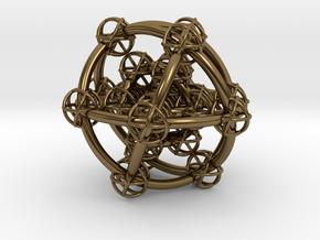 Metatron's Hypercube Variations 50mm in Polished Bronze