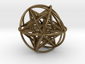Metatrons Cubeoctahedral Sphere Connections 80mm in Polished Bronze