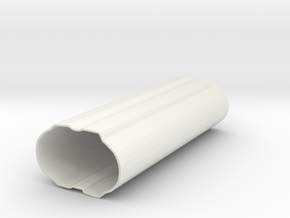Gein Just Grip Curve in White Natural Versatile Plastic