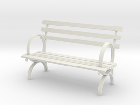 "1:24 Old Park Bench 54"" (Not Full Scale) in White Natural Versatile Plastic"