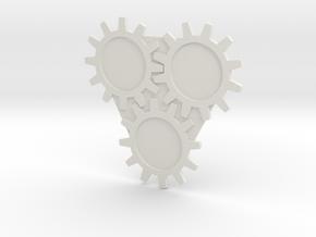 AUC03 Gear Set design 1 in White Strong & Flexible