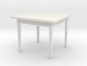 1:24 Table 38x38x30 in White Strong & Flexible