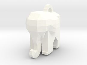Elephant - Low Poly by it's a CYN! in White Strong & Flexible Polished