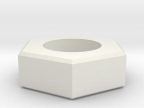 sechskant in White Natural Versatile Plastic